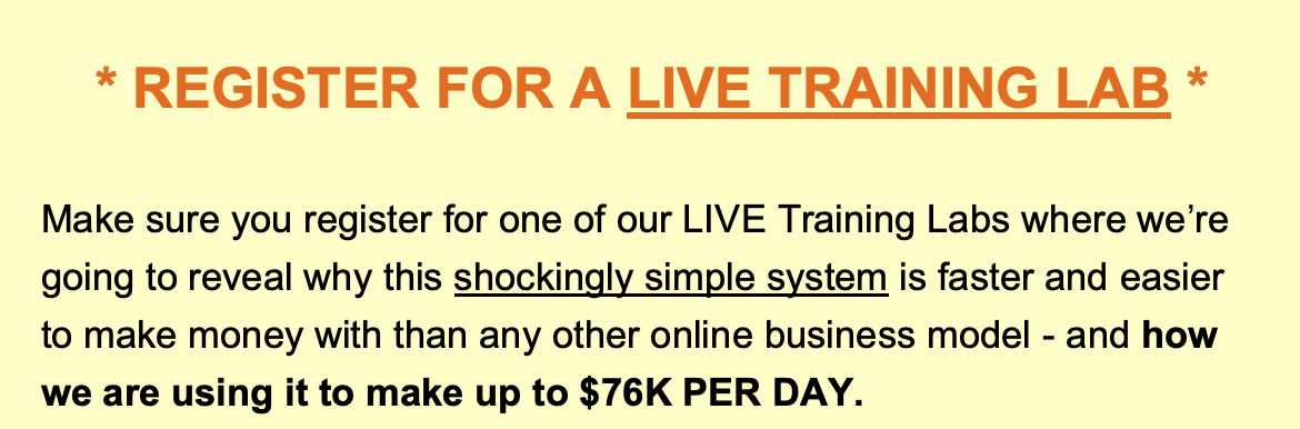 REGISTER FOR A LIVE TRAINING LAB *
